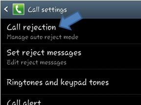 Call Rejection