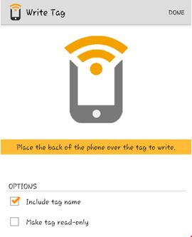 Programming an NFC Tag 8