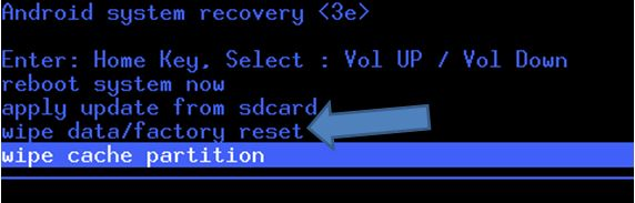 Recovery Factory Reset